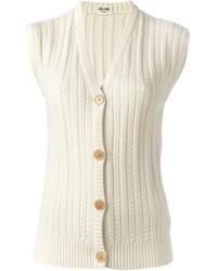 Celine Cline Vintage Cable Knit Gilet
