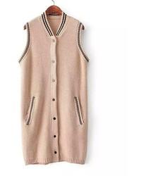 ChicNova Double Pockets Knitting Vest
