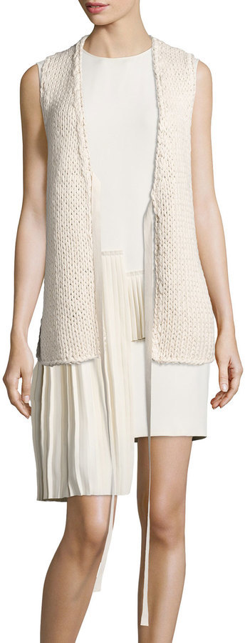 Maison Margiela Open Knit Sweater Vest Beige