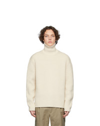 Joseph Beige High Neck Wool Turtleneck