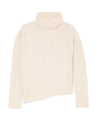 Vanessa Bruno Jaira Cable Knit Wool Turtleneck Sweater