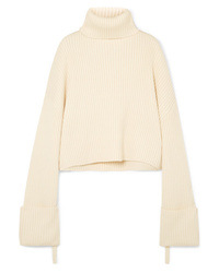 SOLACE London Nosara Ribbed Wool Turtleneck Sweater