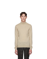 BOSS Off White Musso Turtleneck