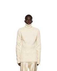Ann Demeulemeester Off White Wool Knit Turtleneck