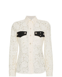 Calvin Klein 205W39nyc Lace Long Sleeve Shirt