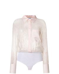 Dondup Sheer Lace Shirt Unavailable