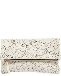 Clare Vivier Clare V Leather Lace Foldover Clutch