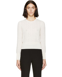 Alexander McQueen Cream Circle Lace Sweater