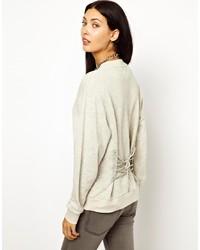 Cheap Monday Lace Back Sweatshirt