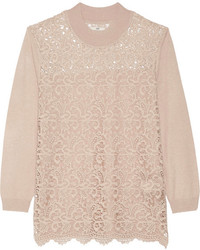 DAY Birger et Mikkelsen Day Flore Lace Paneled Knitted Sweater