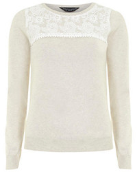 Dorothy Perkins Oat Lace Yoke Jumper