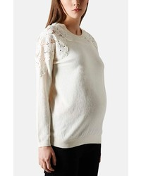 Topshop Lace Shoulder Maternity Sweater