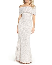 Vince Camuto Off The Shoulder Lace Trumpet Gown