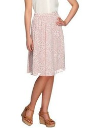 Styled by joe zee fully lined lace printed pull on skirt medium 151899