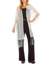 Ali miles lace fringe kimono medium 469696