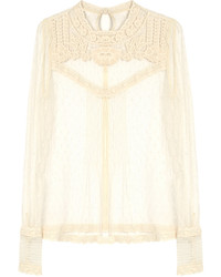 RED Valentino Redvalentino Long Sleeved Lace Top
