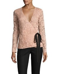 Sachin + Babi Sachin Babi Moira Long Sleeve Lace Wrap Top