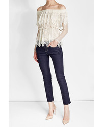 Alexander McQueen Lace Off Shoulder Top