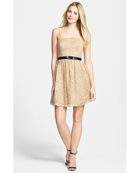 GUESS Lace Fit Flare Dress