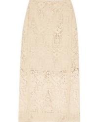 Flocked lace pencil skirt medium 6860727