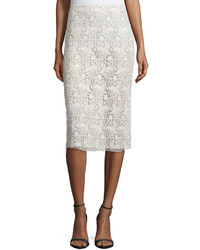 Guipure lace pencil skirt cream medium 453306