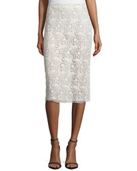 Guipure lace pencil skirt ivory medium 370980