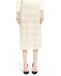 Nina Ricci Guipure Lace Pencil Skirt