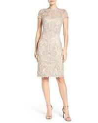 Illusion yoke lace sheath dress medium 3752975