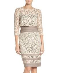 Pleat waist lace blouson dress medium 3753138