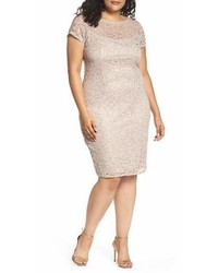 Sequin lace sheath dress medium 6994043