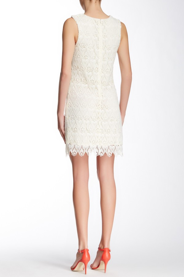 553dd2b1f Champagne Strawberry Crocheted Lace Dress, $120 | Nordstrom Rack |  Lookastic.com