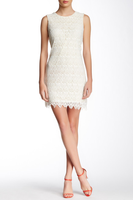 09ab982d6 ... Nordstrom Rack › Beige Lace Shift Dresses Champagne Strawberry  Crocheted Lace Dress ...