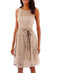 fa279039007 ... jcpenney Danny Nicole Sleeveless Lace Tie Waist Fit And Flare Dress