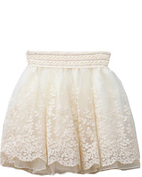 ChicNova Lace Detailed Skater Skirt