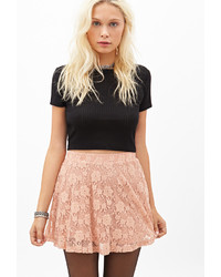 Floral lace skater skirt medium 203852