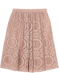 Burberry London Cotton Blend Lace Skirt