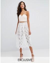 Missguided Premium Lace Full Midi Skirt
