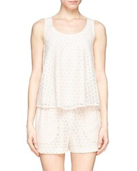 See by chlo eyelet lace sleeveless top medium 318868