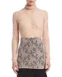 Lanvin Chantilly Lace Pullover Top