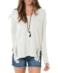 O'Neill Muse Lace Trim Pullover