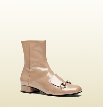 c8c38222981 ... Boots Gucci Leather Horsebit Ankle Boot ...