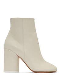MM6 MAISON MARGIELA Off White Ankle Boots