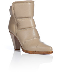 Chloé Quilted Leather Ankle Boots