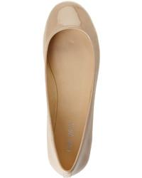 Nine West Nude Patent Ballet Flats, $69