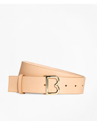 Brooks Brothers 112 Wide Leather B Buckle Belt
