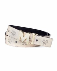 MCM Claus Reversible Visetos Leather Belt