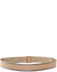 DKNY Piped Leather Waist Belt