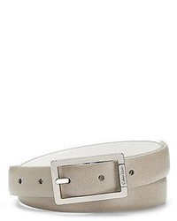 Calvin Klein Reversible Leather Belt Beigewhite M