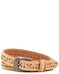 Bill Adler Tr Tone Studded Leather Belt