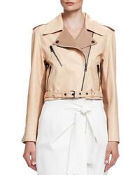 Chloé Chloe Laced Back Napa Leather Jacket